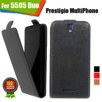 New items 100% Special Case PU Leather Flip Up and Down Case + Free Gift For Prestigio MultiPhone 5505 DUO