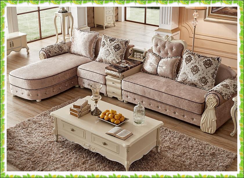 Antique L-shape sofa Terry fabric living room sofa European style(China (Mainland))
