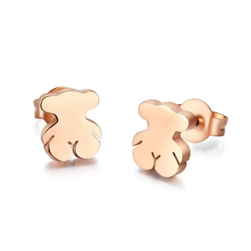 2015 Fashion pendientes to us bear earrings cute teddy bear design stud earrings for women pendientes