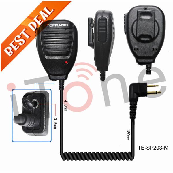 Handheld Speaker Mic for Motorola Two Way Radio Headset for Yeasu Handfree Walkie Talkie Speaker Earpiece Handheld Speaker Mic(China (Mainland))
