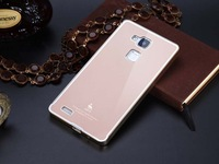 Newest Luxury Style Acrylic Back Cover And Aluminum Frame For Huawei Ascend Mate 7 Mobile Phone Bag Case