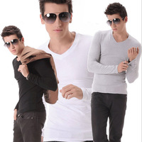 T-shirt Long-Sleeve male cool fashion T-shirts Casual Slim  Hot selling brand Men's Clothing 3 colors