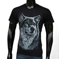 3D design t shirt street cool fashion male casual o-neck t-shirts wolf  Size S-XXL New 2015 hot men short summer