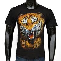 clothing tiger cool Fashion man's t shirt brand casual vest man T-Shirts round boy neck t shirt 2015 summer top short sleeve