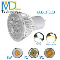 1W LED Chips LED Spotlight Bulbs 3W 4W 5W High Power LED Bulbs GU5.3 Base Lamp Hot Sale Warm White Cool White MDLSP-5-004