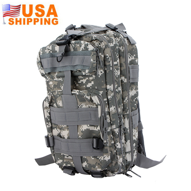 US Stock to USA 7 Colors Outdoor Sport Military Tactical Backpack Rucksack 600D Nylon Camping Hiking Bag Travel Men's Backpacks(China (Mainland))
