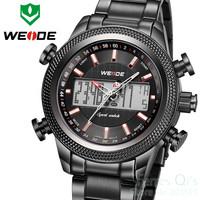 WEIDE Watch Men Reloj De Pulsera Luxury Watch Black Dial Watch Dive Wristwatch Free Ship