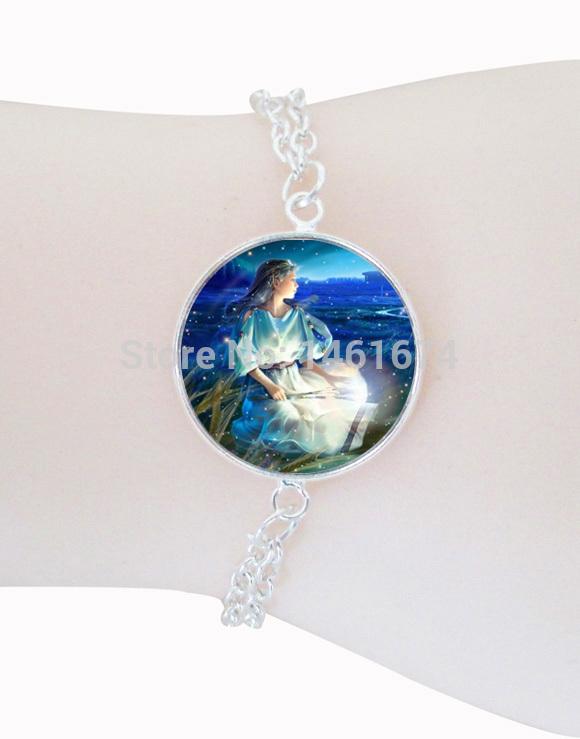 fahsion jewelry Virgo bracelet Zodiac charm bracelet silver plated astrological sign bracelets August September birthday gifts(China (Mainland))
