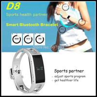 Hot Sale D8 Stainless Steel Bluetooth Smart Bracelet Intelligent Sports Wrist Watch OLED Sleep Monitor Pedometer Call Reminder
