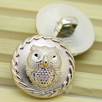 Golden coating owl  resin plastic button  22mm  diy sewing