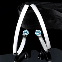 Valentine's Gifts 7 color luxury crystal dangle earrings for women gift Brincos Geometry Rhinestone Dangle Earrings for Women