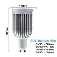 E27 Base Lamp LED Spotlight Bulbs 3W 5W 7W 9W High Power LED Bulbs COB LED Chips 110V-240V Voltage Hot Sale MDLSP-2-001