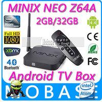 MINIX NEO Z64 Series Z64A Android TV Box Intel Atom Z3735F 64bit Quad Core CPU 2G/32G XBMC KODI Player 1080P Smart TV Receiver