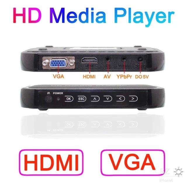Smart Mini 1080P TV Videos SD MMC RMVB MP3 HD USB HDMI Multi TV Media Videos Player Box(China (Mainland))