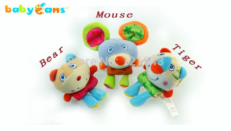 Boa qualidade melhor presente para o bebê de pelúcia brinquedo do bebê sino de pelúcia Rattle Wrist suave(China (Mainland))