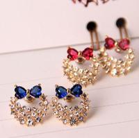 18K Real Gold Plated Austria Crystal Earrings Czech 2015 New    earrings X06838A-C24682B11