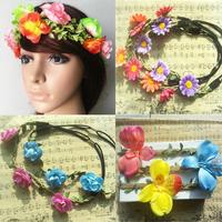 12pcs 2015 summer Women Girls Boho Floral Flower Hairband Headband For Festival Party Wedding  clearance sale