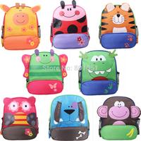 New 2015 animals school bags Cute Zoo Cartoon Mini Oxford Canvas Dinosaur Tiger Giraffe Monkey Backpack Gift for Children Kids