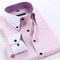 2015 new men's shirts long sleeve casual business formal shirt for men spring autumn male social dress shirts men camisas