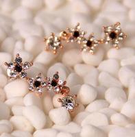 Lovely flower 18K Real Gold Plated Austria Crystal Earrings Czech rhinestone good quality   earrings X06505A-C24682B8