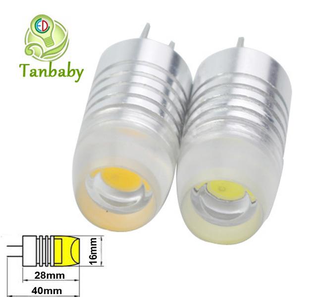 Tanbaby 10pcs 2W G4 12V dc led cob bulb f16mm COB LED white or warm white Car RV Landscape Boat 12V Bulb Lamp energy saving(China (Mainland))