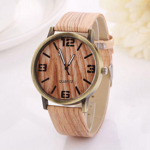 2015 Fashion Women Men Quartz Watches Men Leather Strap Casual Sports Watches Wood Male Dress Clock Relogio Masculino(China (Mainland))