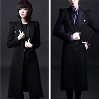 2015 New Woman Exclusive New Long Winter Woolen Coat, Elegant Slim Overcoat, Femal Woollen Coat, Turn-down Collar Outerwear