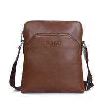 2015 new vertical leather men shoulder bags polo mens messenger bag business travel crossbody bag sac homme bolso hombre 2 sizes