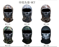 Tactical Airsoft Printed Hood Bandanas Swat Wind Winter Stopper Full Face Hood ghost Mask for Wargame CS Motorcycle Bike Cycling