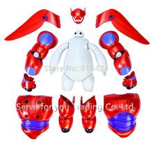 2015 Hot vendas transformar montar Big Hero 6 Action Figure Toys Baymax bonecas dos desenhos animados modelo Kids Brinquedos Brinquedos presentes de ano novo(China (Mainland))