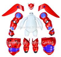 2015 Hot Sales Transform Assemble Big Hero 6 Action Figure Toys Baymax Dolls Cartoon Model Toys Kids Brinquedos New Year's Gifts