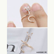 Fashion Nail Ring 2015 New Women toe ring Platinum Plated Rose Gold 925 Silver Three Color