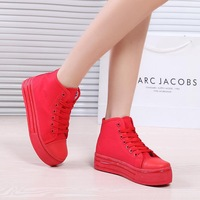B03 new arrval top high vancas women flat platform shoes lovely breathable and cozy casual shopping sneakers for girls