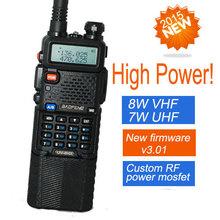 two way radio walkie talkie UV-8HX,baofeng Pofung uv-5r high power version,1w/4w/8watts VHF/UHF dual band portable radio