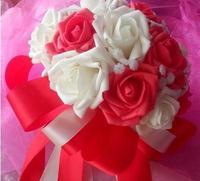wedding bride holding flowers wedding bouquet  Romantic wedding / bridal bouquet of roses simulation
