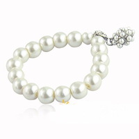 Free Shipping Hot Selling Fashion All-match Pearl Ball Bracelet Delicate Crystal Bracelet For Women