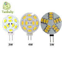 Tanbaby G4 led 3W 4W SMD 5730 corn led bulbs 12v ac/dc ulter bright led chandelier light indoor led lighting ROHS CE