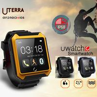 Smart Watch Uterra Bluetooth Smartwarch IP68 Waterproof Pedometer IPS Screen For iPhone 6 5 5s Samsung S5 Note 4 HTC 2015 New