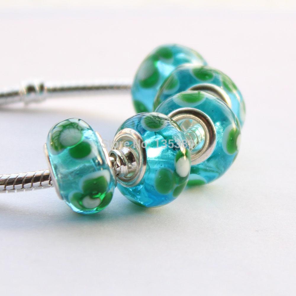 5pcs Nice DIY Jewelry accessories big hole beads Murano apply to fit Pandora style charms bracelet