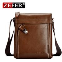 2015 brand Zefer leather mens bag fashion crossbody shoulder bag business travel men messenger bags sac homme black brown color