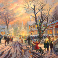 High quality 500 wool puzzle the scenery oil painting Christmas