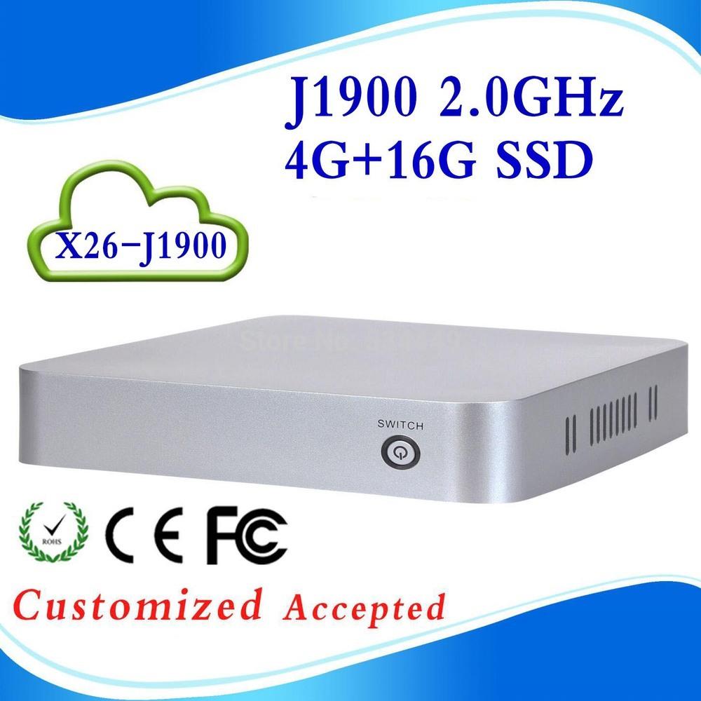 High-performance Powerful energy-saving CPUs c1037u fanless linux mini pc wintel box X26-J1900(China (Mainland))