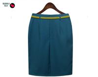 2015 Hot sale Fashion autumn Ladies Elegant OL female Skirts High Quality Vintage high waist Slim Skirts (NO BELT)