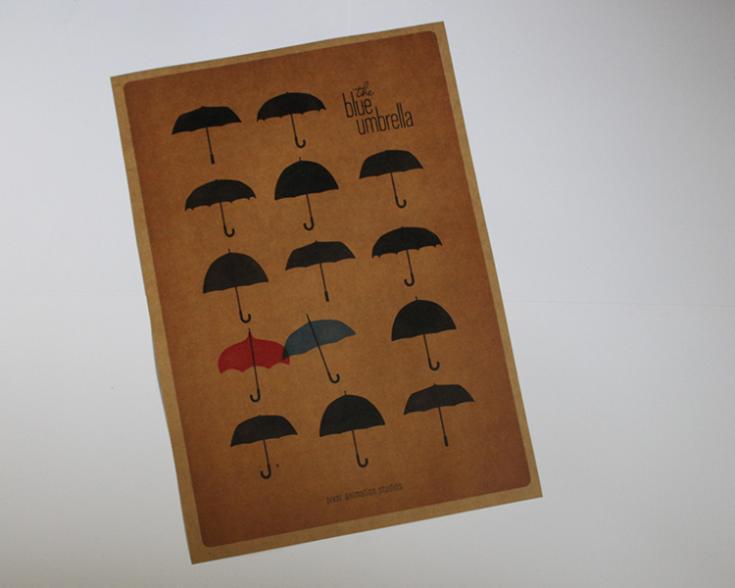 Blue Umbrella Painting Blue Umbrella Love Old Movie