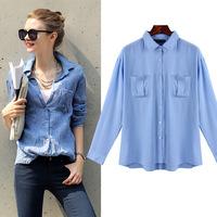 Fashion Women Shirts Blouses Newest Cotton Chiffon Blusas Femininas Summer Woman Tops Cheap Clothes China Button Lady Blouse