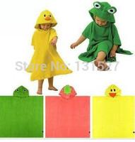 New Design Children Terry Bathrobe  Hoodie Hoody Costume Cotton Bath Towel Baby Robe Kids Cartoon Animal Robes Boy Girl Gift