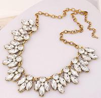 Elegant Rhinestone Choker Necklace Simply Rhinestone Bib Necklace New Fashion Statement Necklace Jewekry BJN99607
