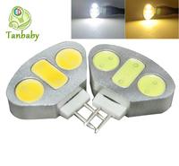 Tanbaby 4.5W G4 COB led light lamp 3pcs smd cob lighting bulbs white or warm white DC12V indoor crystal chandelie 10pcsr