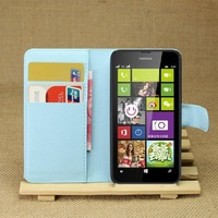 """NWT Flip pu leather Case for Flip leather cases For nokia lumia 630 4.5"""" cell phone protective bags covers with cards-holder"""