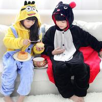 Kids boy girl Unisex Children Onesies Child Flannel Pajamas Pyjama Sets Cute Cartoon Animal winter Sleepwear Pajamas